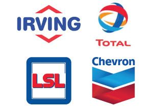 Logos: Irving - Total - LSD - Chevron - Ultramar