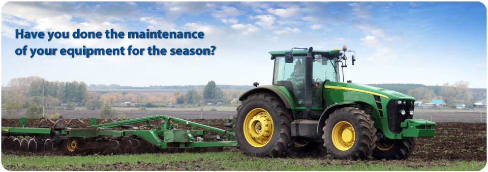 Have you done the maintenance of your equipment for the season?